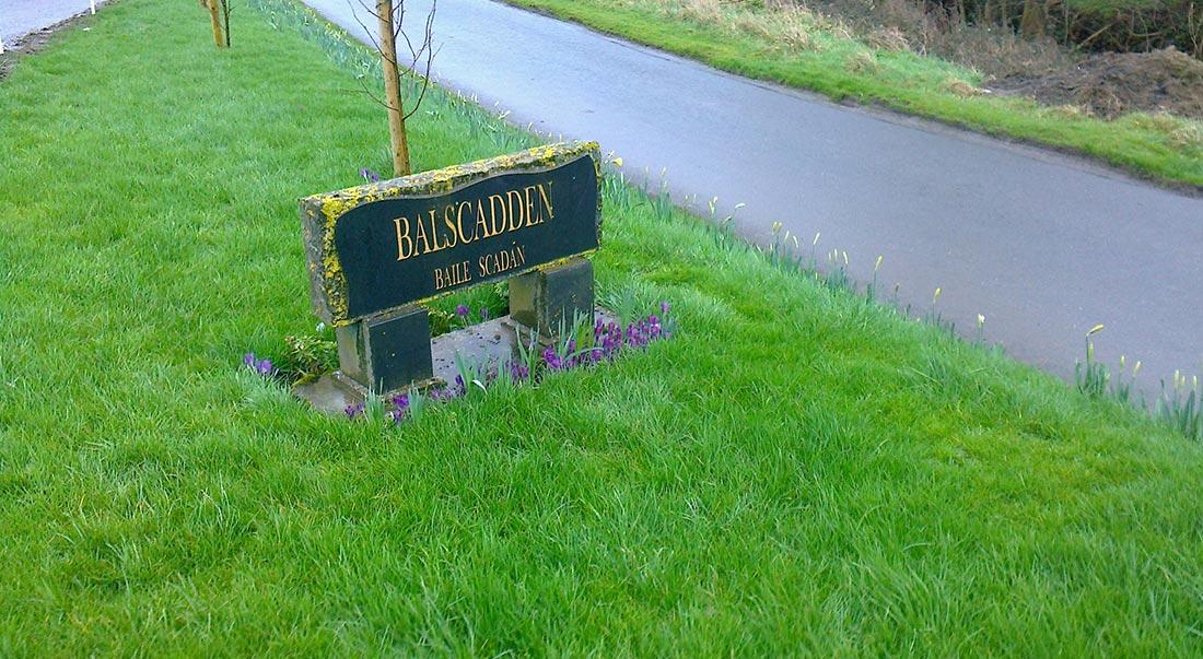 sign for Balscadden