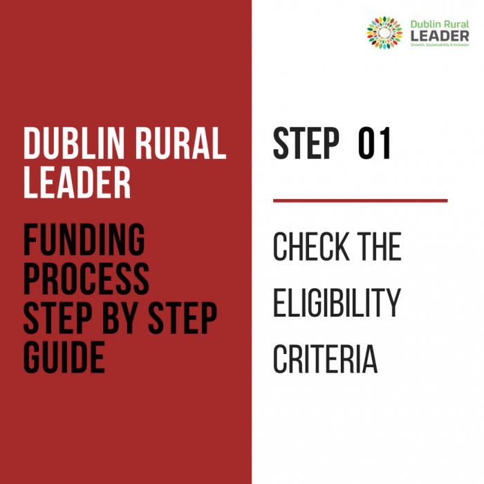 Dublin Rural Leader Funding Process - Step 1 - check the eligibility criteria